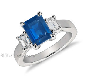 Ring with blue stone © Klick Photography