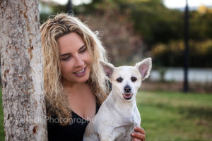 Mommy and dog portrait © Klick Photography