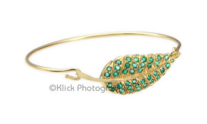 Gold Bracelet with green stone © Klick Photography