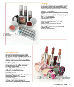 Makeup kits in a catalog © Klick Photography